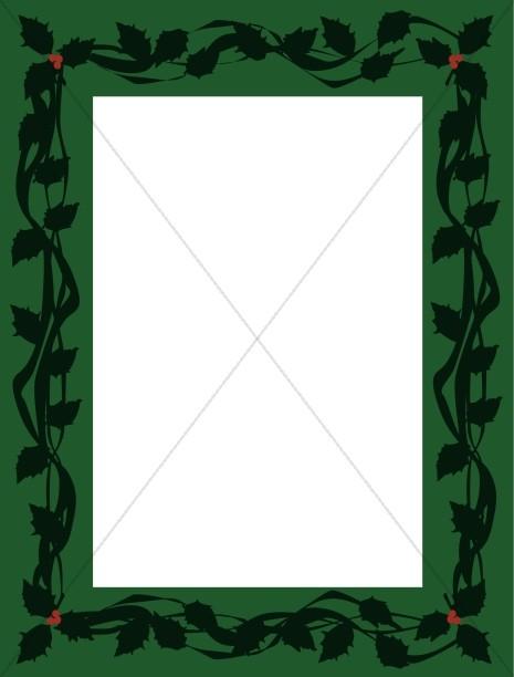 Ivy Vines on Green Frame