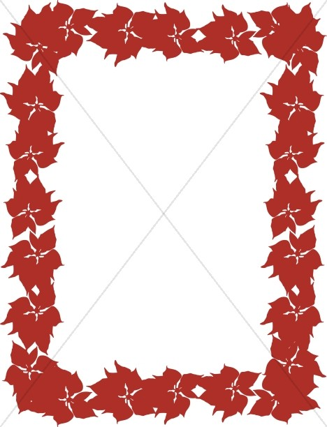 Red Poinsettia December Frame