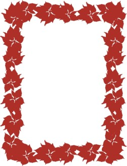 Red Poinsettia December Frame