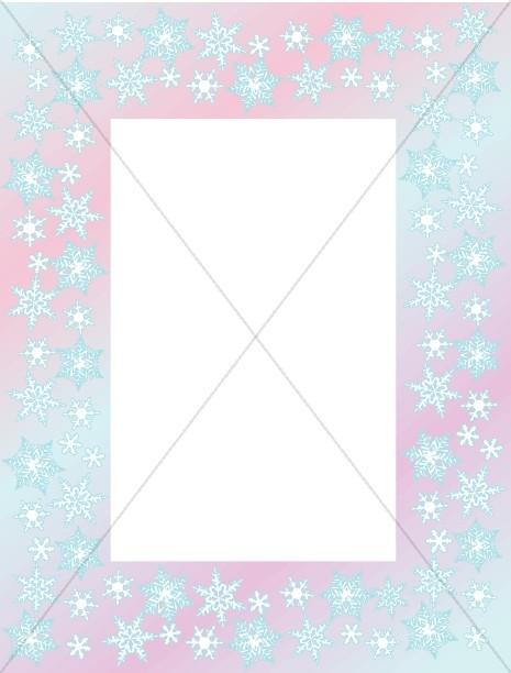 Pastel Snowflake Frame