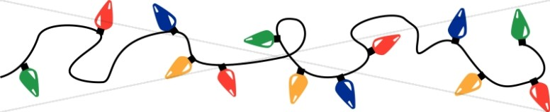 Holiday Lights Page Divider