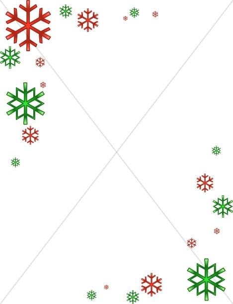 Modern Christmas Snowflake Corners