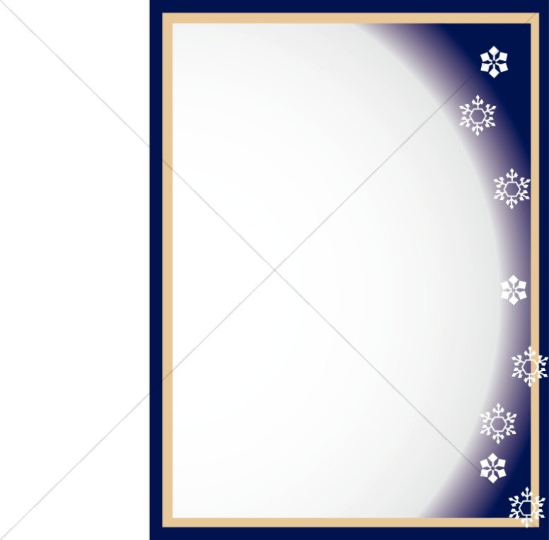Full Moon with Snowflakes Frame