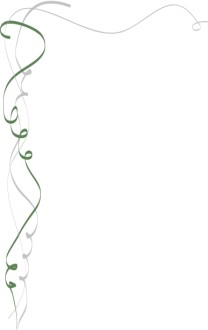 Green and Silver Calligraphic Ribbon Corner