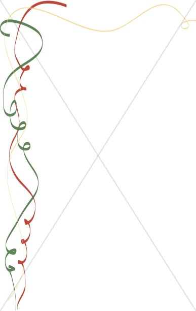 Green and Red Whimsical Ribbon