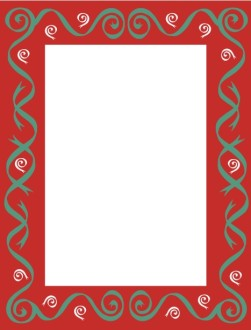 Christmas Color Swirls Frame