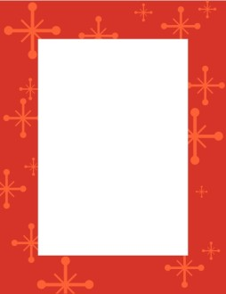 Red Frame with Star Accents