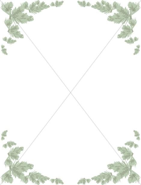 Pastel Pine Garland Frame