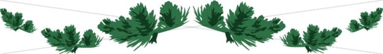 Green Garland Divider