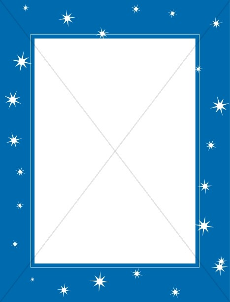 Blue Frame with Eight Pointed Stars