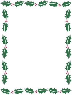 Outline of Holly Leaves