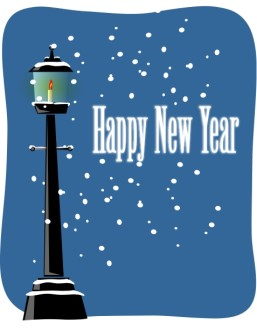 Happy New Year Lamppost