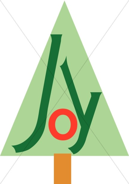 Joy Text on Christmas Tree