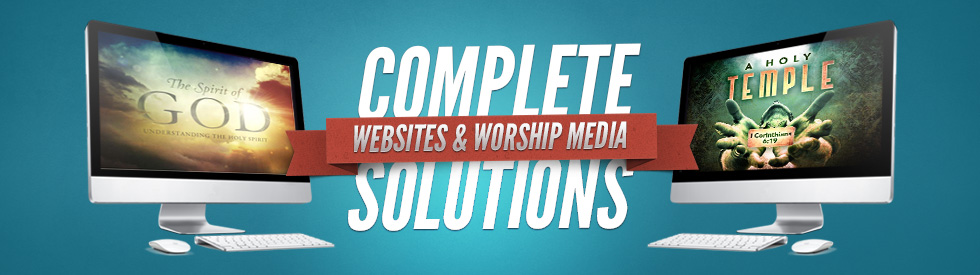 All your church solutions in one place! Church Websites, Worship Media & Print!