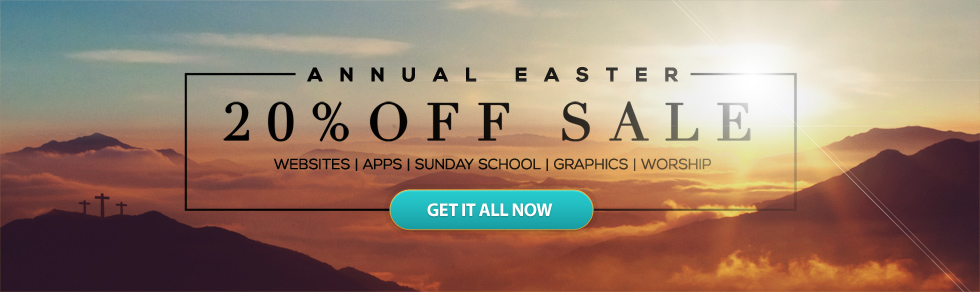 Easter Sale - 20% off All Your Church Resources