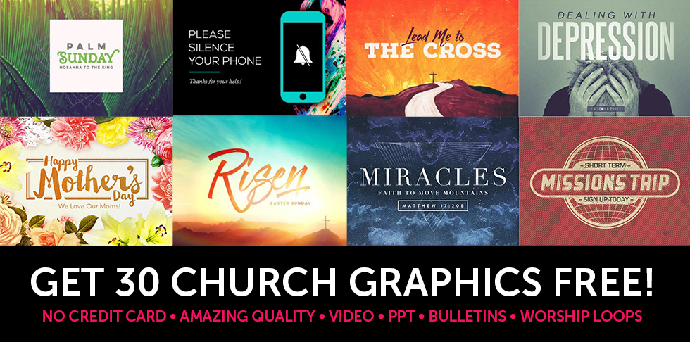 Get 30 Free Church Graphics!