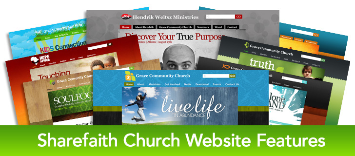 Church Website Features - from Sharefaith