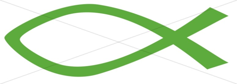 Forest Green Ichthys Symbol