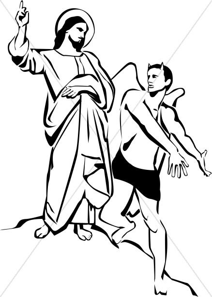 Temptation Of Christ Clipart Temptation Of Jesus Clipart