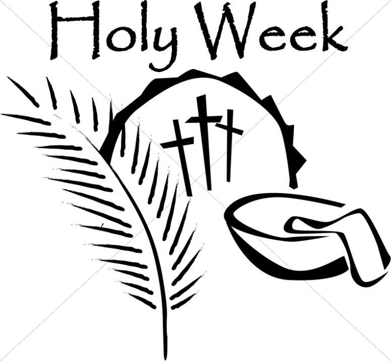 Holy Week Crosses with Palm Leaf and Wash Bowl
