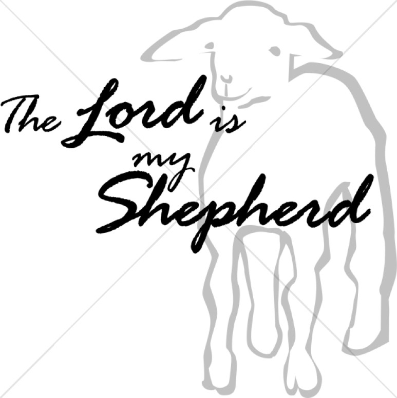 The Lord is My Shepherd with Lamb
