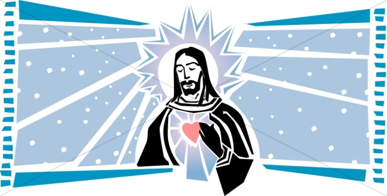 Jesus and the Sacred Heart on Sky Design