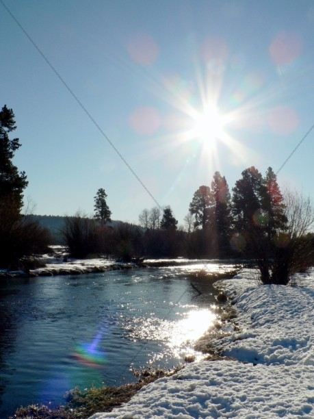 Winter River Sunrise