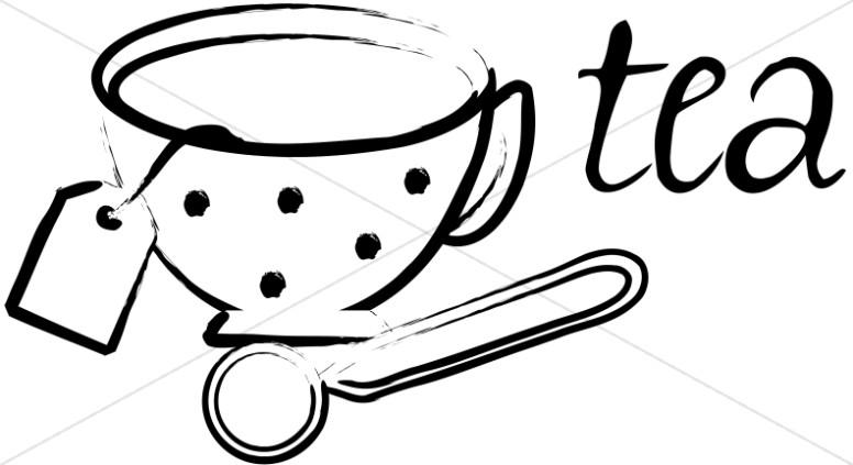 Polka Dotted Tea Cup