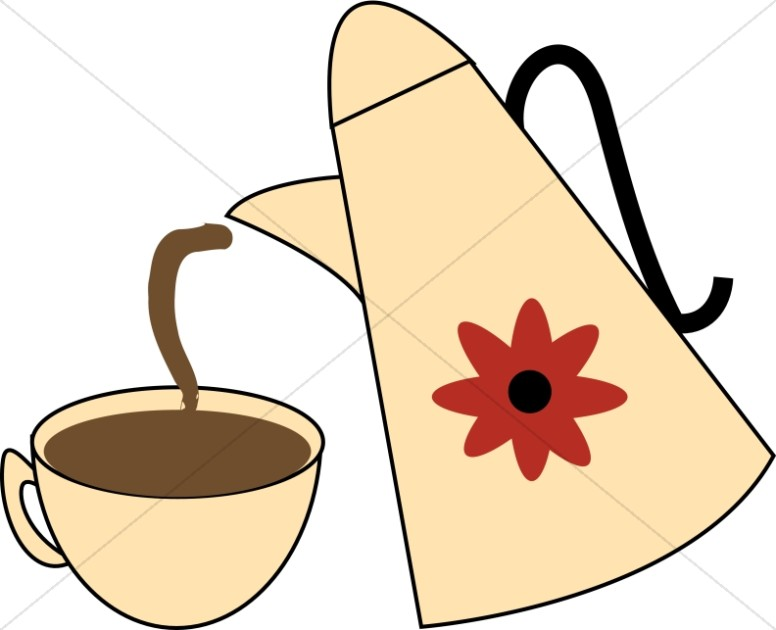 Coffee Carafe with Flower