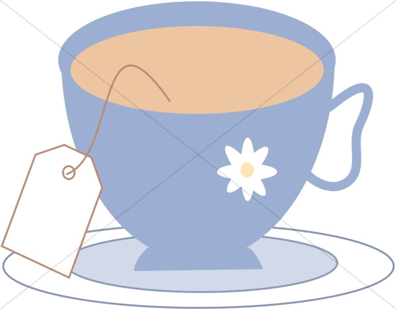 Tea Cup in Spring Colors | Tea Time Clipart