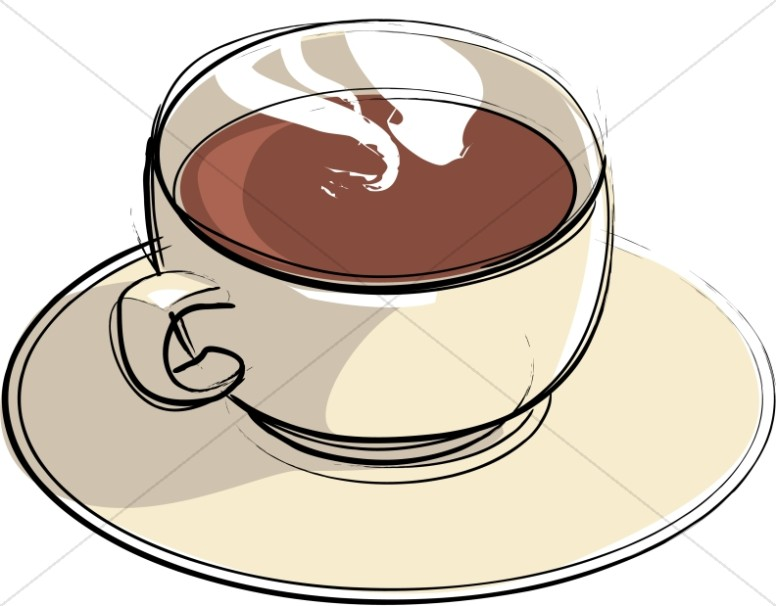 Tan Mug with Steam Clipart
