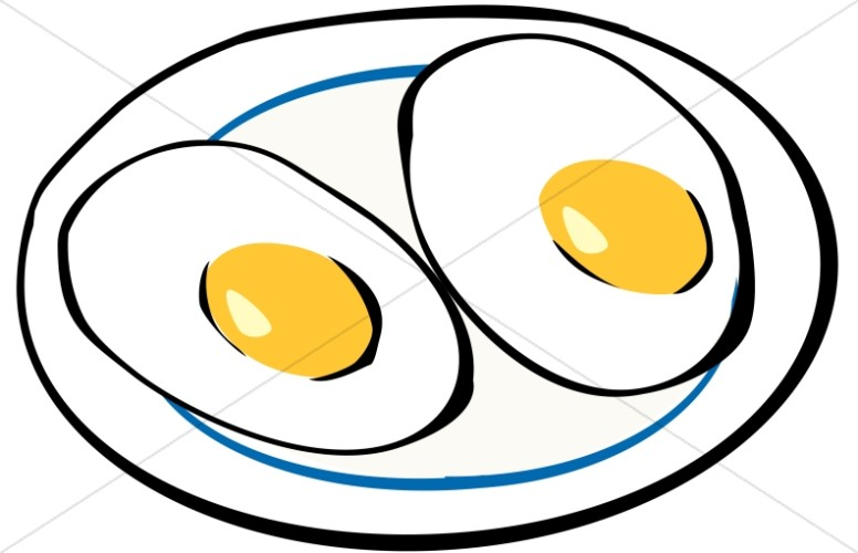 Breakfast Eggs Sunny Side Up