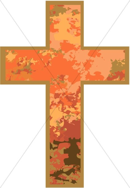 Pink Marbled Cross