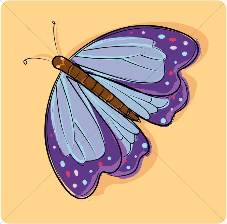 Cute Purple Butterfly