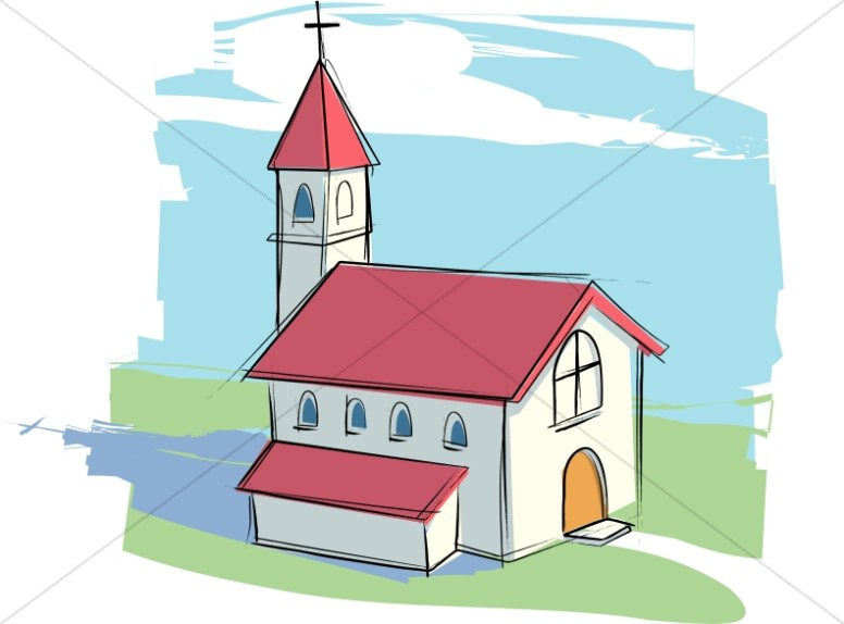 country church with rural landscape church clipart Egg Clip Art Black and White Easter Clip Art Black and White