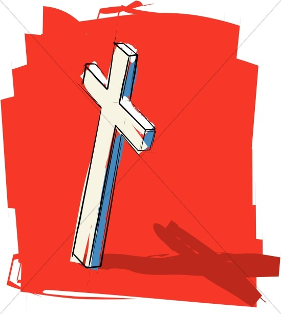 Rustic Cross on Red