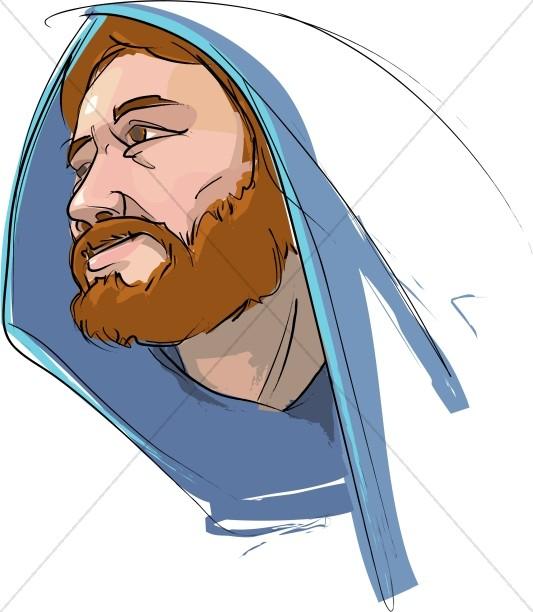 Jesus Wearing Cloak Image