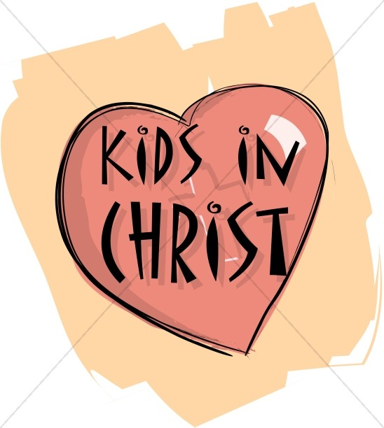 Colorful Kids In Christ Heart