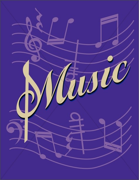 Music Flyer Purple Background
