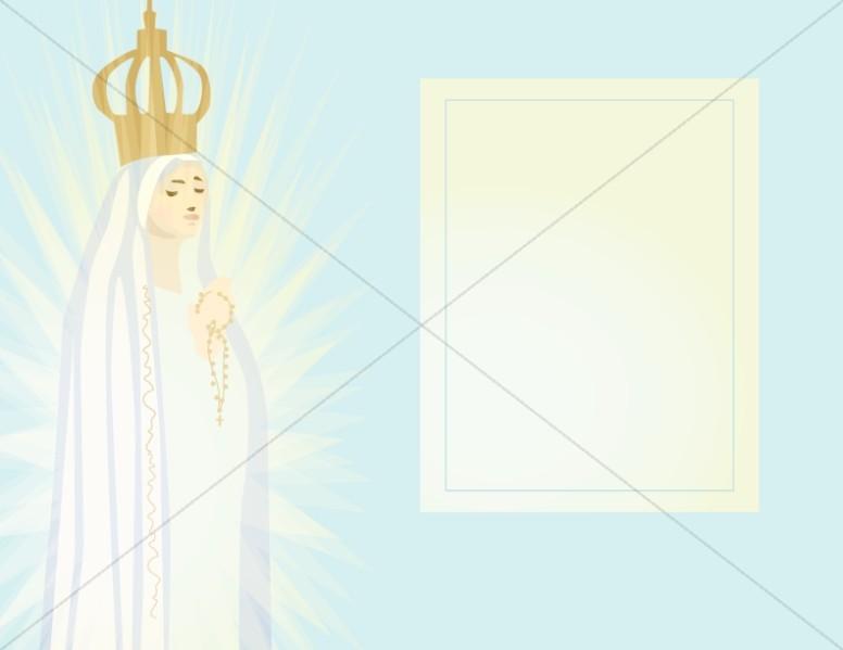Virigin Mother Prayer Card with Title Block