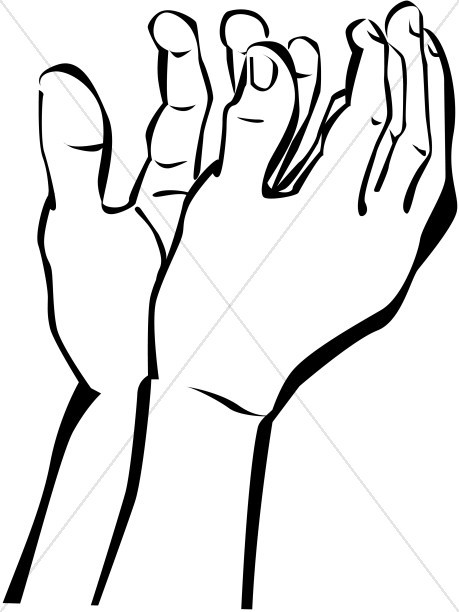 Hands Outstretched in Prayer to Heaven | Prayer Clipart