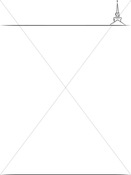 Church Steeple Letterhead