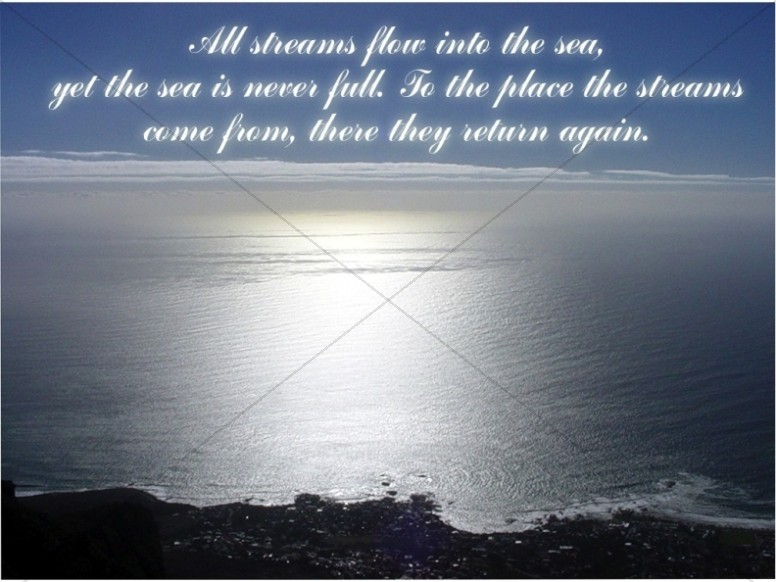 Ecclessiastes Sea Background