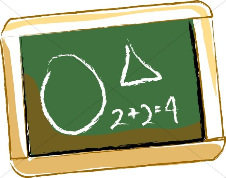 Personal School Math Chalkboard