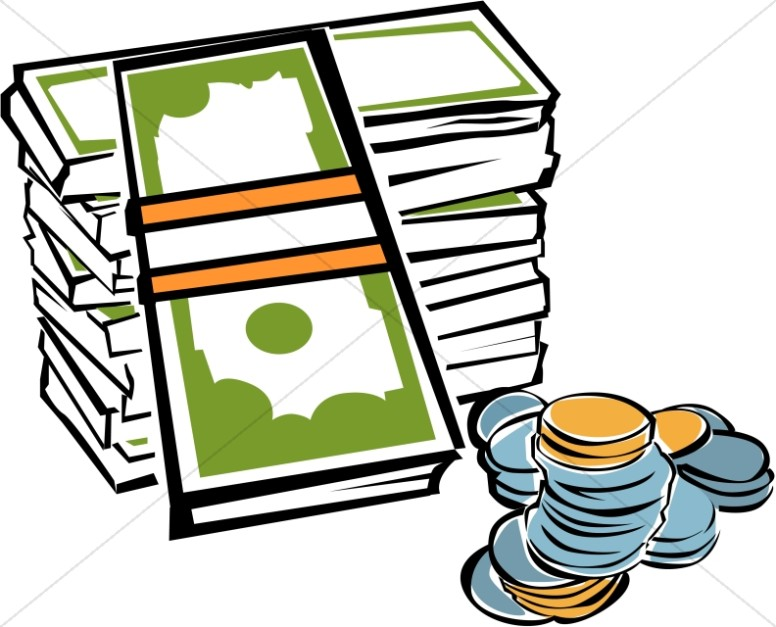 stack of money with coins church management clipart rh sharefaith com
