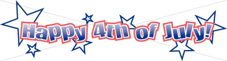 Starry 4th of July Wordart