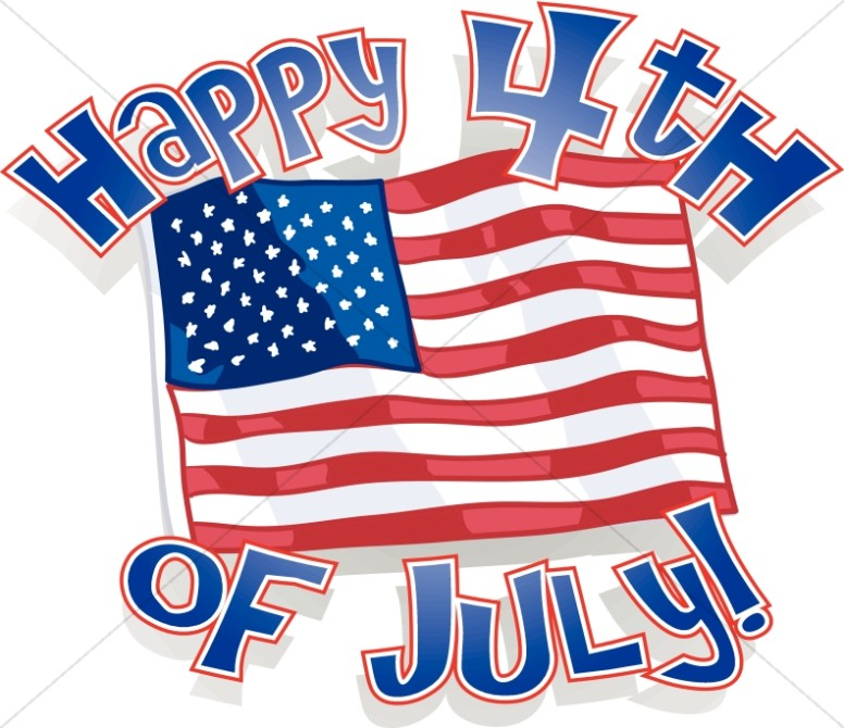 happy 4th of july around our flag independence day word art rh sharefaith com happy 4th of july animated clipart happy fourth of july clipart