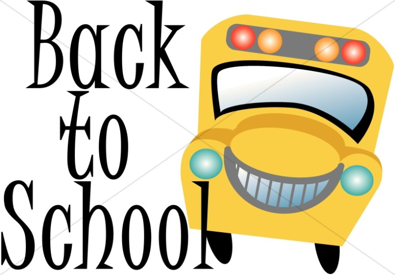 Back to School Word Art with Bus