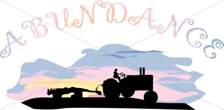 Abundance Tractor at Sunrise