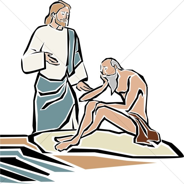 Jesus Heals the Blind Man by Bethsaida Pool